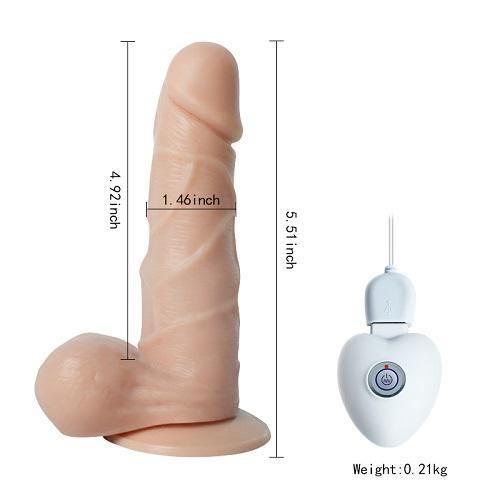 10 Titreşimli Oynar Başlı USB Şarjlı Teknolojik Vibratör Penis