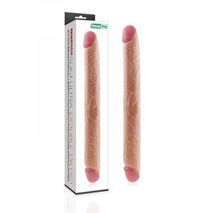 Lovetoy Lady Çift Taraflı Realistik Dildo Anal Vajinal Penis 43cm